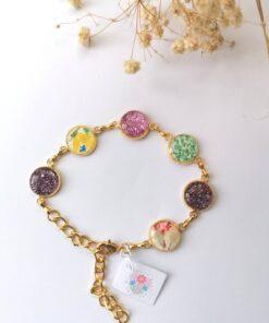 Personalised Handmade Gold & Silver Resin Bracelets